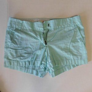 Light Green J Crew Short Shorts